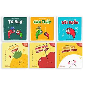 Combo 2 bộ Ehon (6 cuốn) dành cho bé từ 0 tuổi - Vương quốc trái cây - Phép so sánh diệu kì