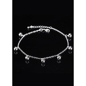 Lắc tay mạ bạc lục lạc nhiều hạt dây mềm vòng tay phụ kiện trang sức nữ thiết kế sang trọng phong cách thời trang cá tính Hàn quốc tặng ảnh thiết kế vcone