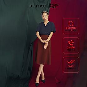 Áo sơ mi nữ GUMAC áo sơ mi nữ thiết kế tay ngắn cổ lật AB119