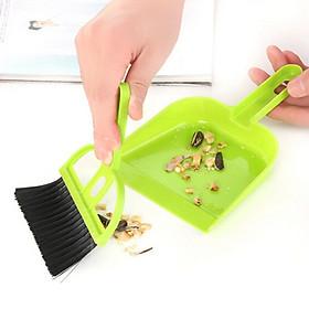 Dụng cụ vệ sinh nhà cửa thông minh 2 trong 1, chổi quét dọn mini kèm đồ hốt rác giúp dọn sạch bụi bám trên máy tính, góc tủ, cửa sổ,...- giao màu ngẫu nhiên