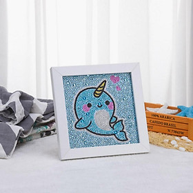DIY 5D Diamond Painting by Number Kits Full Drill Rhinestone Embroidery Cross Stitch Pictures for Home Decor Cartoon Whale