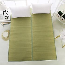 Chiếu cói tự nhiên, viền vải, kiểu gập đôi theo chiều dọc