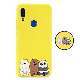 For Redmi NOTE 7 Soft TPU Full Cover Phone Case Protector Back Cover Phone Case with Matched Pattern Adjustable Bracket