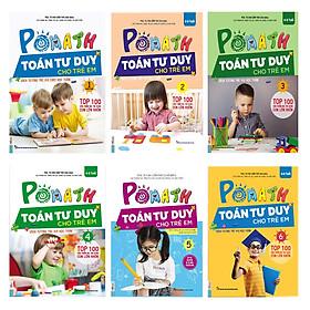 Combo Pomath Toán Tuổi Thơ Cho Trẻ Em Từ 4-6 Tuổi (6 Tập) Tặng 1 Cuốn Truyện Song Ngữ Bìa Cứng (ngẫu nhiên)