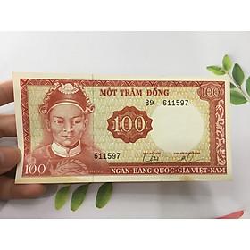 100 đồng Lê Văn Duyệt bóng chìm đầu tướng, tiền còn mới đẹp như hình, tặng phơi nylon bảo vệ tiền