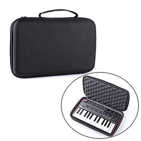 MIDI Keyboard Storage Bag Protective Hard Shell Case Carrying Case Compatible with AKAI MPK MINI MK2 Keyboard Controller