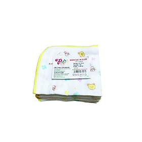 Khăn sữa Pure 100% natural cotton 3 lớp in hình kt 24*28/ 3 layer printed baby cotton gauze handkerchief