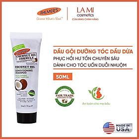 (Mini Size) Dầu gội dưỡng tóc Dầu dừa phục hồi hư tổn cho tóc nhuộm Palmer's 50ml