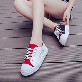 Giày thể thao nữ chất vải phối nhiều màu đến trắng siêu hot hàng FULL BOX kèm ảnh chi tiết