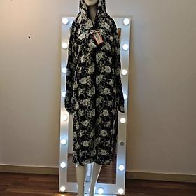 Áo Chống Nắng Nữ, Áo Chống Nắng Toàn Thân 2 lớp ( Vải lanh mềm, mát) + Tặng khẩu trang cùng màu áo