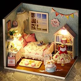 Nhà búp bê Ngôi nhà thu nhỏ lắp ghép Happy Little World