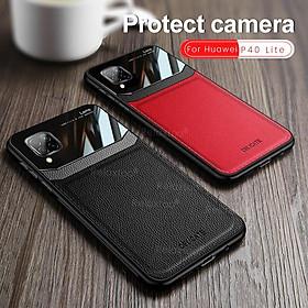 Ốp điện thoại bằng da và PC silicon cho Huawei P40 Lite P 40