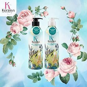 [Tặng kèm móc khoá] Bô dầu gội/xả nước hoa Kerasys Pure & Charming hương quýt và hoa ly Hàn Quốc 600ml-3