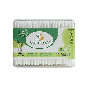 Bộ 5 hộp tăm bông Meriday 2 đầu xoắn