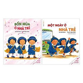 Sách Ehon - bốn mùa ở nhà trẻ và một ngày ở nhà trẻ (bộ 2 cuốn)