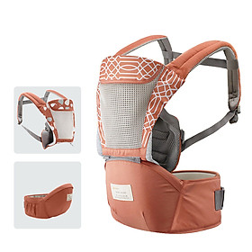 Địu em bé tiện dụng thoáng khí với thiết kế linh hoạt tháo rời và túi đựng đa chức năng