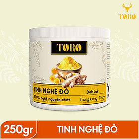Tinh bột nghệ đỏ TORO Curcumin 250g  - từ Dak Lak - 100% tinh nghệ đỏ -TORO FARM