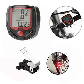 Đồng hồ đo tốc độ xe đạp thể thao Sunding MaiLee + Tặng kèm đèn phanh Led xe đạp cảnh báo - Hàng chính hãng