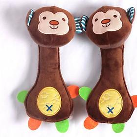 Chút chít cầm nắm 3 in 1 khỉ nâu kích thích thính giác, xúc giác và rèn luyện kỹ năng cầm nắm