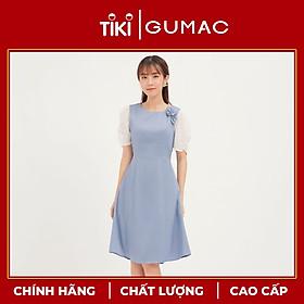 Đầm tay nhún phụ kiện GUMAC DA1214