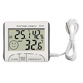 Thiết bị đo nhiệt độ, độ ẩm DC103 (độ chính xác cao, thiết kế nhỏ gọn) - Tặng kèm 3 móc dán tường màu ngẫu nhiên