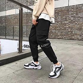 < FREESHIP > Quần jogger kaki túi hộp vải bao đẹp in chữ