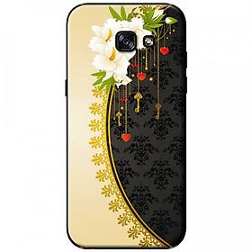 Hình đại diện sản phẩm Ốp lưng dành cho Samsung Galaxy A7 (2017) mẫu Hoa trắng vàng đen