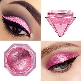 LANGMANNI Charming Diamond Style 6 Colors Glitter Eyeshadow Make up Palette Shimmer Pigment White Purple Eye Shadow Powder