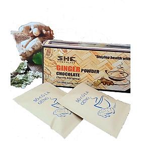 Bột Socola Gừng 200g SHE Chocolate - 01 Hộp 200g 8 túi - Cung cấp năng lượng và giữ ấm cơ thể