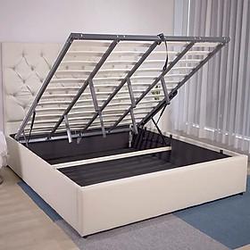 Giường ngủ bọc da thông minh 1m6x2m giát giường nâng hạ