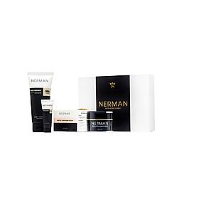 Combo đẹp trai Nerman gồm Gel rửa mặt Kem ngừa mụn và kem dưỡng trắng da