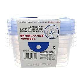 Bộ 4 hộp nhựa thực phẩm cao cấp kháng khuẩn của Nhật Bản 400ml dùng lò vi sóng A-040LB