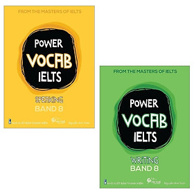 Combo Power Vocab IELTS Band 8: Speaking + Writing (Bộ 2 Cuốn)