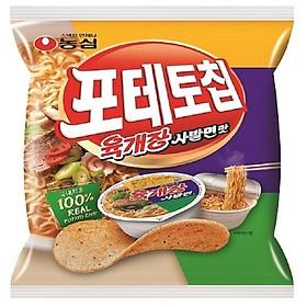 NONGSHIM Potato Chip Yukgaejang Instant Cup Ramen Flavor 125g