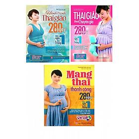 Combo sách: Hành trình thai giáo 280 ngày, Thai Giáo Theo Chuyên Gia - 280 Ngày - Mỗi Ngày Đọc Một Trang và Mang Thai Thành Công - 280 Ngày Mỗi Ngày Đọc 1 Trang - Tặng truyện song ngữ bìa mềm hai nàng công chúa