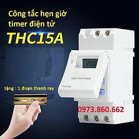 Hẹn giờ thời gian timer AHC 15A - Hẹn giờ điện tử cài thanh ray