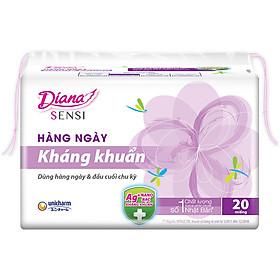 Băng Vệ Sinh Diana Daily Sensi Siêu Thấm Kháng Khuẩn (Gói 20 Miếng)