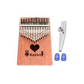 Đàn Kalimba gỗ BWS-Babbit 17 phím chuẩn thumb piano kèm đủ phụ kiện (Búa chỉnh âm, dán nốt, túi đựng, sách hướng dẫn) BWS-17 Kèm kèn Kazoo + Bọc ngón tay
