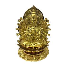 Tượng Phật Quan Âm nghìn mắt nghìn tay kèm nước hoa trang trí taplo ô tô, xe hơi cao cấp
