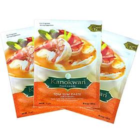 Bộ 3 gói Bột lẩu thái ( Tom yum paste ) Kanokwan 30 g