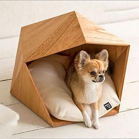 Nhà Gỗ Đa Giác Cho Chó Mèo DH004