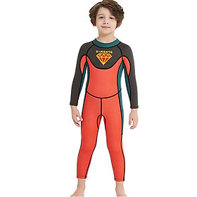 Boy's Wetsuit 2.5Mm Neoprene One-Piece Long-Sleeved Snorkeling Surfing Diving Jellyfish Suit