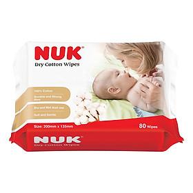 Khăn Vải Khô Đa Năng Nuk (80C) (Dry Cotton Wipes, 80 Pc/Bag)-0