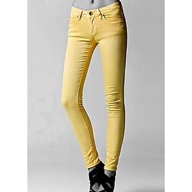 Quần kaki dáng chuẩn co giản thoải mái - 108 - Vàng