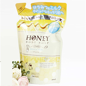 Sữa tắm trắng da tinh chất sữa mật ong Nhật bản DẠNG TÚI ( 400ML)