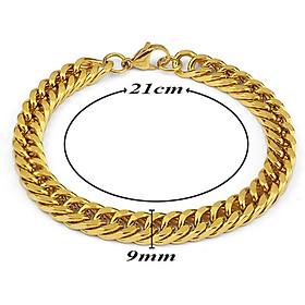 Lắc tay nam inox thời trang kiểu lặc kép trangsucpt màu mạ vàng trangsucpt thép không gỉ PTLTNA122