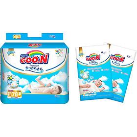 Tã dán Goon Premium cao cấp  gói siêu đại S78 (4 ~ 8kg) + Tặng thêm 10 miếng cùng size