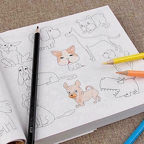 Vở tập tô màu - Sách tô màu cho bé tặng kèm bút vẽ