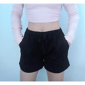 Quần short nữ lưng thun có size lớn