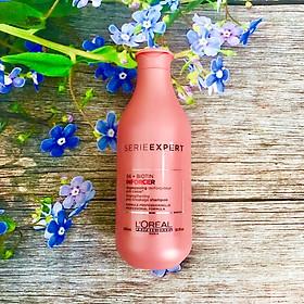 Dầu gội L'oreal Serie Expert B6 + Biotin Inforcer Strengthening Anti-breakage shampoo phục hồi ngăn gãy rụng 300ml